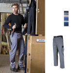 Arbeitshose Two Color, optional mit Reflexstreifen und/oder Kniepolstertaschen
