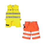 Schutzkleidung - Warnschutz-Weste und -Shorts